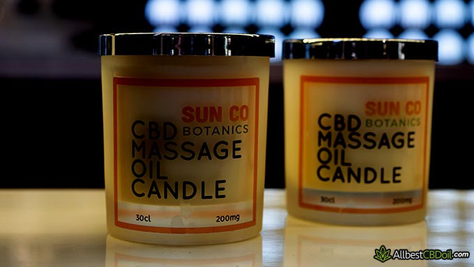 Best CBD oil UK: CBD massage candles.