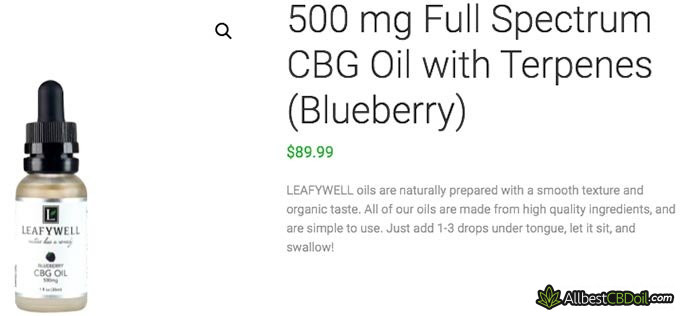 Best CBG oil: LeafyWell.