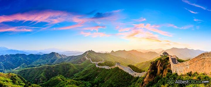 CBD Chine: La Grande Muraille de Chine.