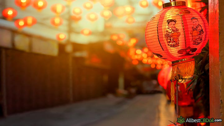 CBD Chine: une lanterne chinoise.