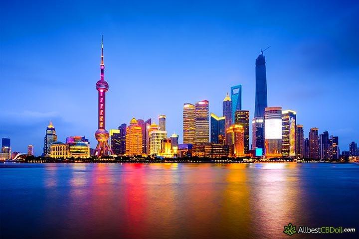 CBD Chine: Shanghai.