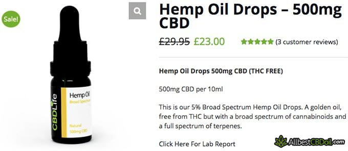 CBD Life UK reviews: the Hemp oil drops.