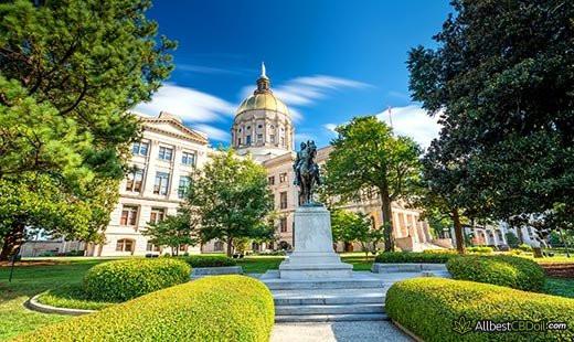 CBD Oil Georgia: Georgia state.