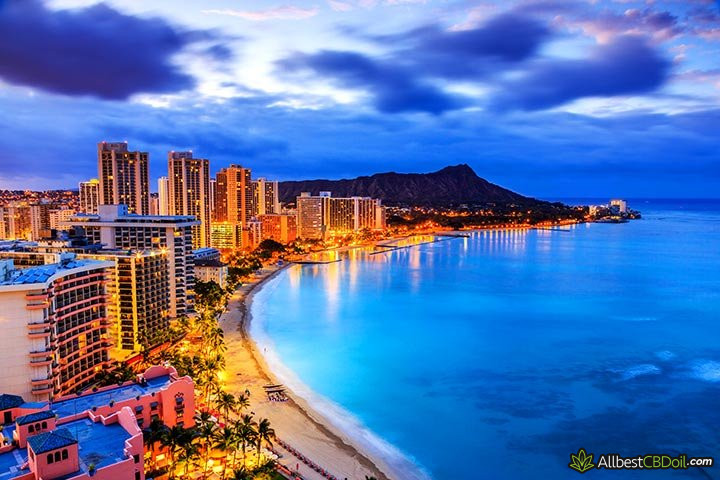 CBD oil Hawaii: Honolulu, Hawaii.