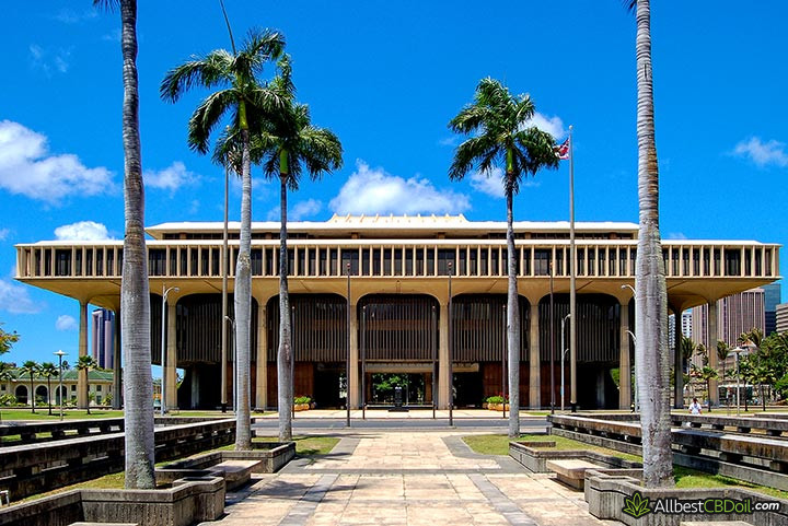 CBD oil Hawaii: state capital building in Hawaii.