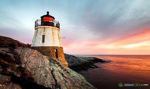 CBD Oil Rhode Island: Rhode Island state.