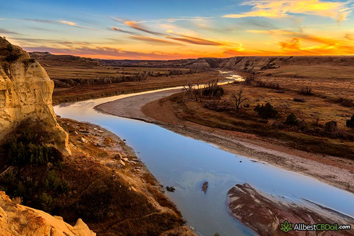 CBD oil North Dakota: Little Missouri river.