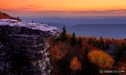 CBD Oil West Virginia: West Virginia state.