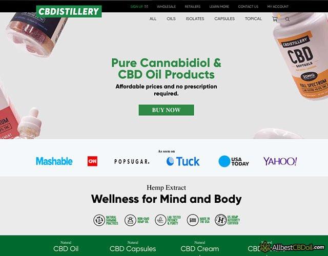 CBDistillery Bewertungen: Anbieter-Screenshot.