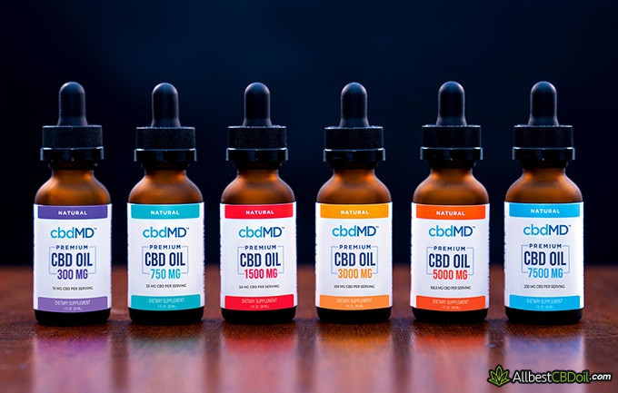 cbdMD reviews: cbdMD premium tincture choice list.
