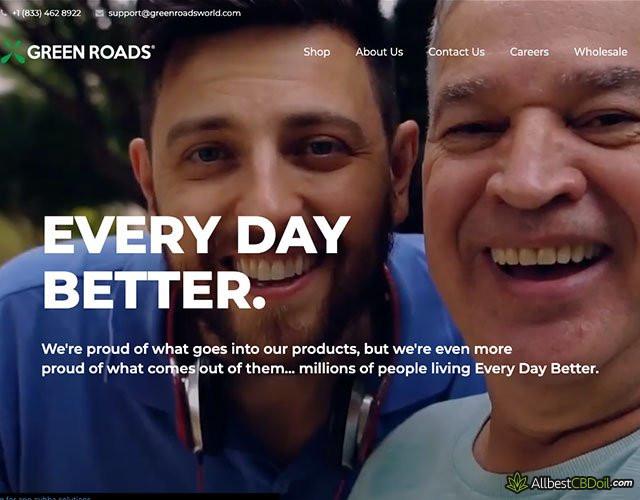Green Roads CBD Überprüfung: Homepage.