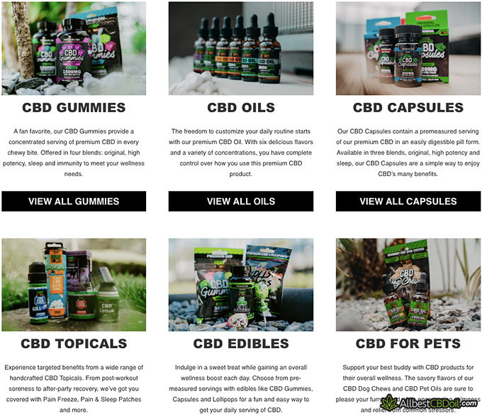 Hemp Bombs review: product variety.