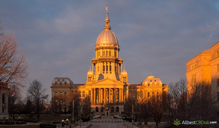 CBD oil illinois: illinois Capitol building.