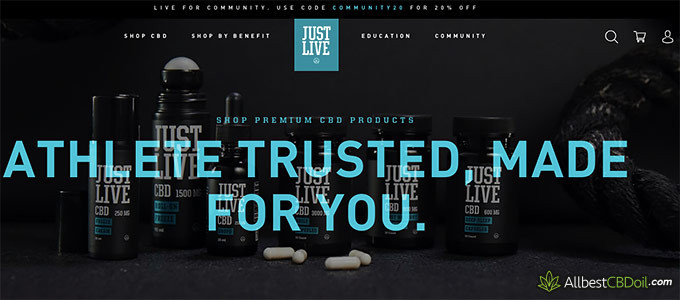 Just Live CBD review: athlete trusted.