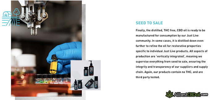 Just Live CBD review: seed to sale.