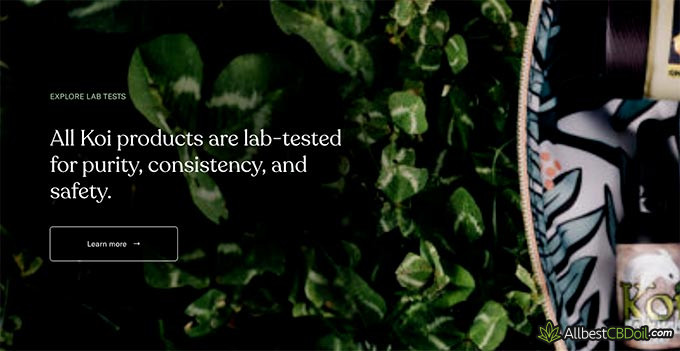 Koi CBD review: independent lab tests.