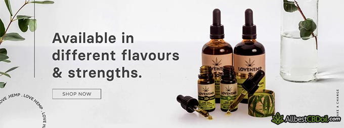 Love Hemp review: different flavours and strengths.