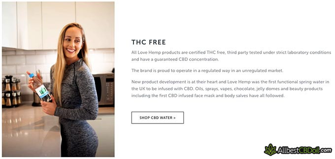 Love Hemp review: THC-free products.