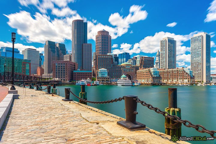 CBD oil Massachusetts: Boston Skyline