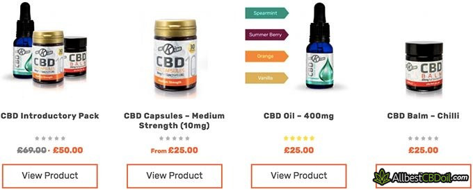 OK CBD oil reviews: CBD product selection.