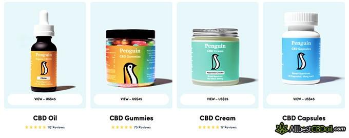 Penguin CBD reviews: product variety.