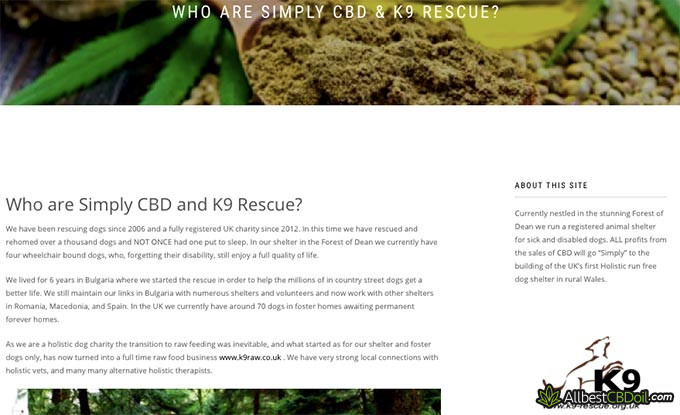 Simply CBD reviews: dog shelter project.