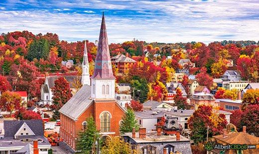 CBD Oil Vermont: Vermont state.